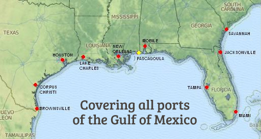 Map Of Gulf Coast United States Map In The Atlas Of The World